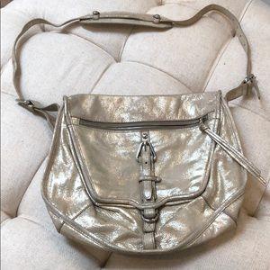 Kooba crossbody beige metallic gold bag